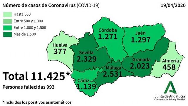mapa coronavirus malaga 19-04-2020
