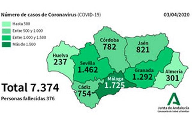 mapa coronavirus malaga viernes