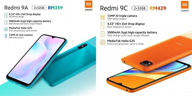 Redmi 9A Redmi 9C
