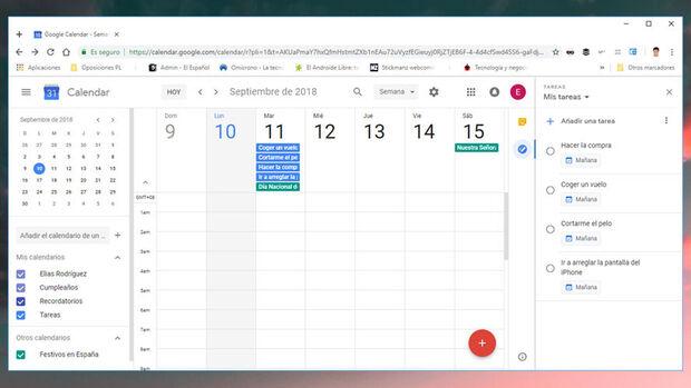 Calendar Tareas