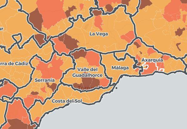 municipios afectados málaga