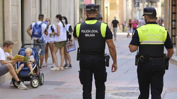 Policia actuando