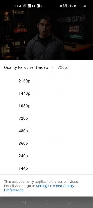 resolucion youtube app