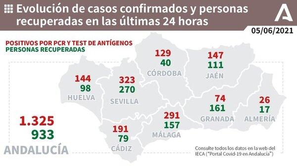 291 positivos Málaga